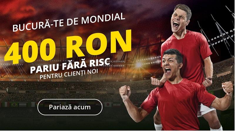 Ofertă EXCLUSIVĂ | Pariu gratuit de 400 lei pentru Cupa Mondială